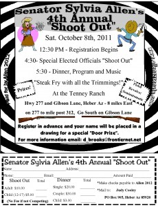 "Senator Sylvia Allen's 4th Annual ""Shoot Out"""